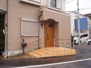 練馬区 H様邸 外部階段造作 手すり取付工事